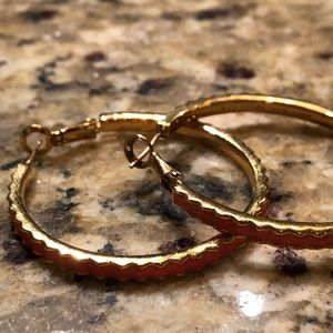 Kate Spade Coral Hoop Earrings